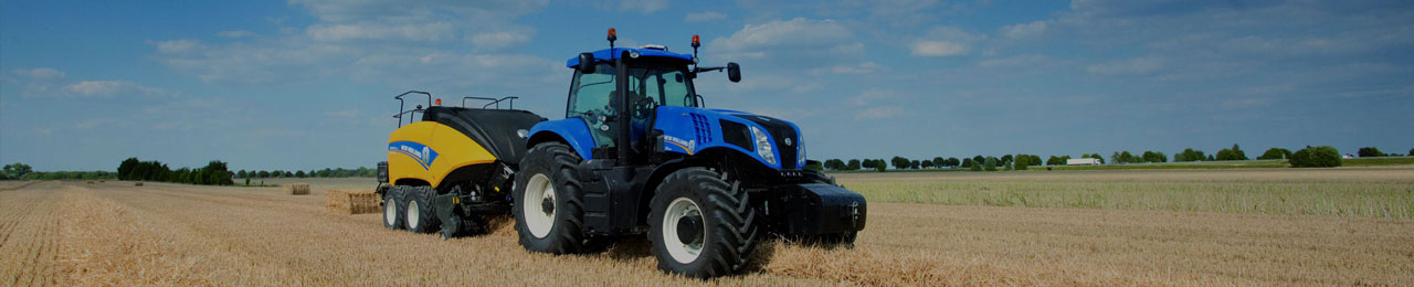 Tractor in a field banner