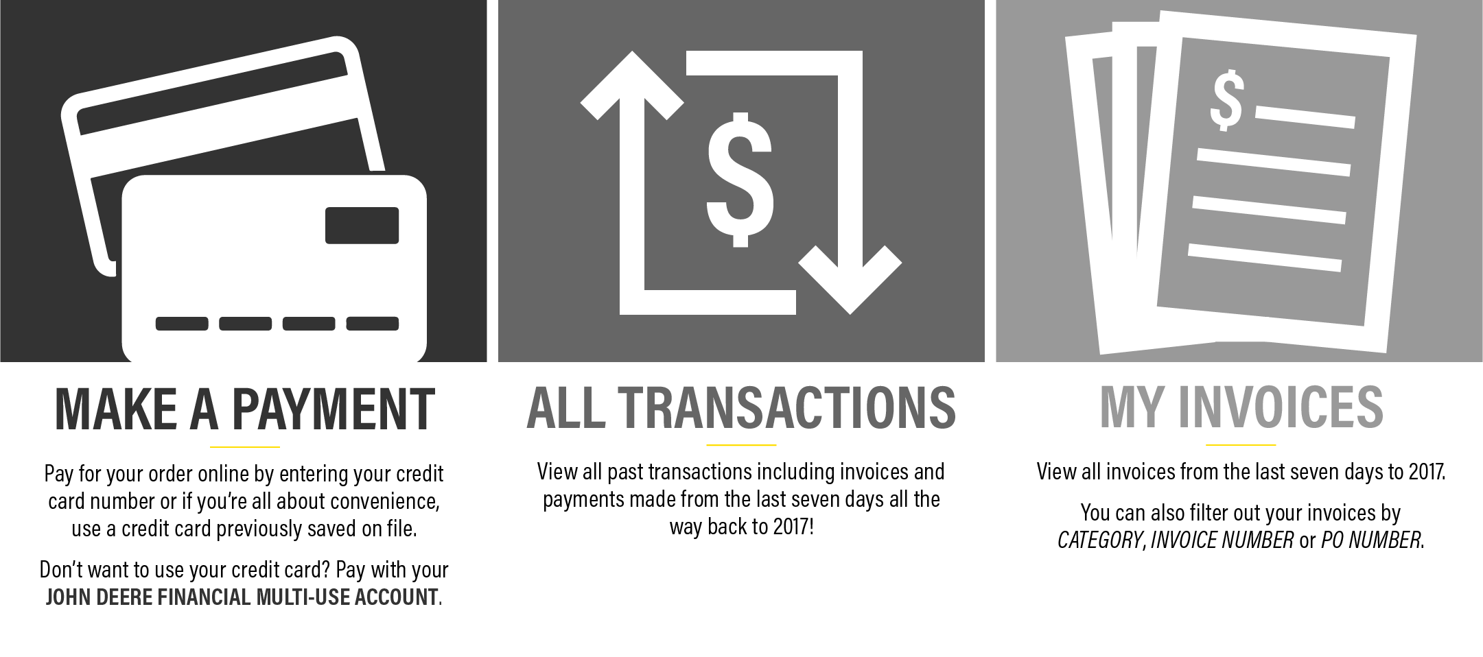 All Transactions & My Invoices