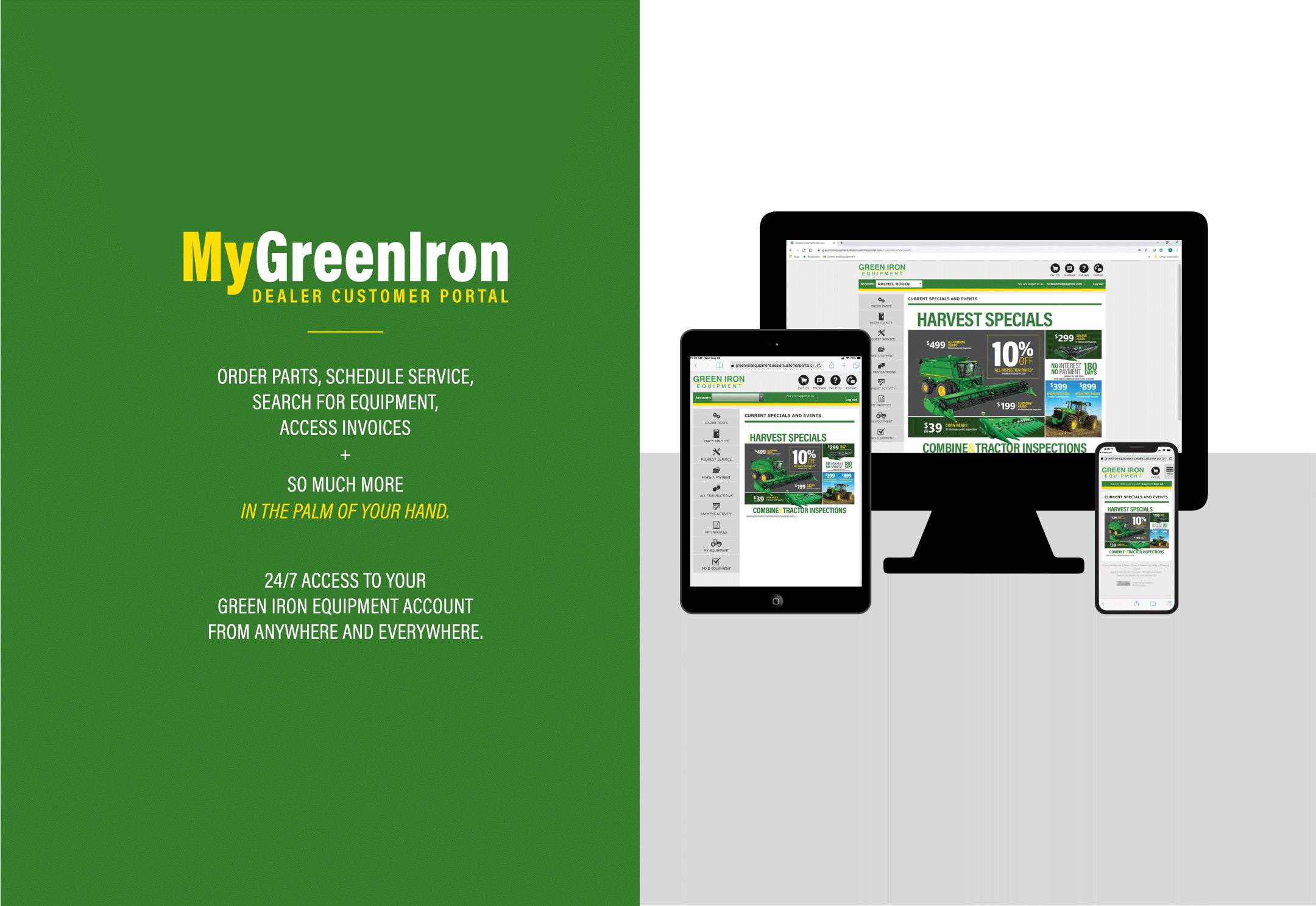 M Green Iron Homepage
