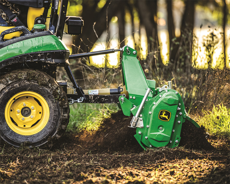 Close up of the 1025R front loader